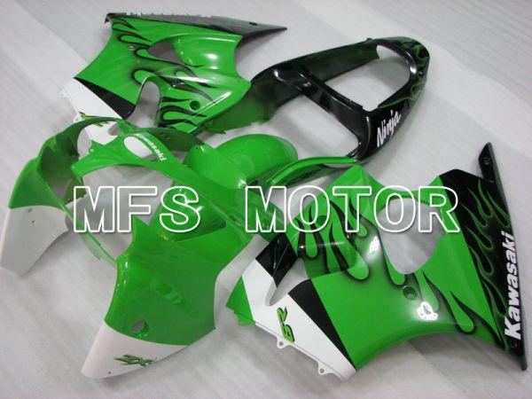 Kawasaki NINJA ZX6R 2000-2002 Injection ABS Fairing - Flame - Black Green - MFS3660