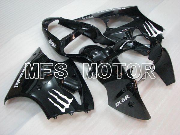 Kawasaki NINJA ZX6R 2000-2002 Injection ABS Fairing - Monster - Black - MFS3667