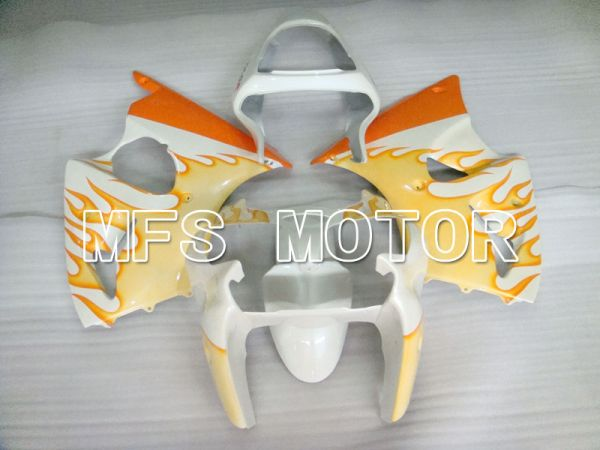 Kawasaki NINJA ZX6R 2000-2002 Injection ABS Fairing - Flame - White Orange - MFS3675