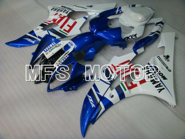 Yamaha YZF-R6 2006-2007 Injection ABS Fairing - FIAT - Blue White - MFS3689