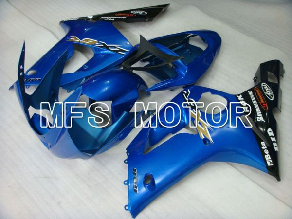 Kawasaki NINJA ZX6R 2003-2004 Injection ABS Fairing - Factory Style - Black Blue - MFS3695