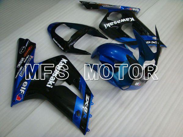 Kawasaki NINJA ZX6R 2003-2004 Injection ABS Fairing - Factory Style - Black Blue - MFS3701