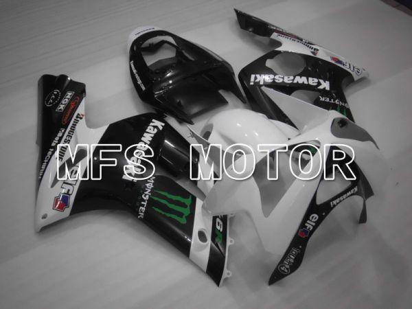 Kawasaki NINJA ZX6R 2003-2004 Injection ABS Fairing - Monster - Black White - MFS3713