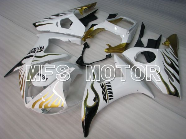 Yamaha YZF-R6 2005 Injection ABS Fairing - Flame - Gold White - MFS3714