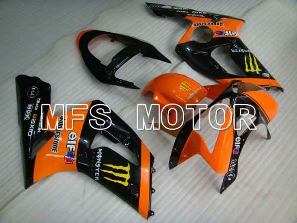 Kawasaki NINJA ZX6R 2003-2004 Injection ABS Fairing - Monster - Black Orange - MFS3716
