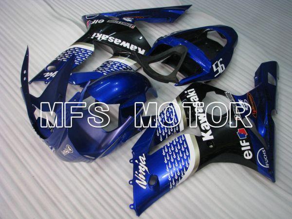 Kawasaki NINJA ZX6R 2003-2004 Injection ABS Fairing - Factory Style - Black Blue - MFS3717
