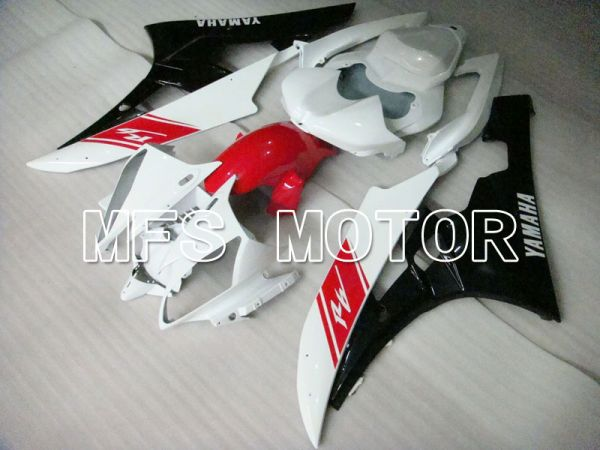 Yamaha YZF-R6 2006-2007 Injection ABS Fairing - Factory Style - Black White - MFS3723