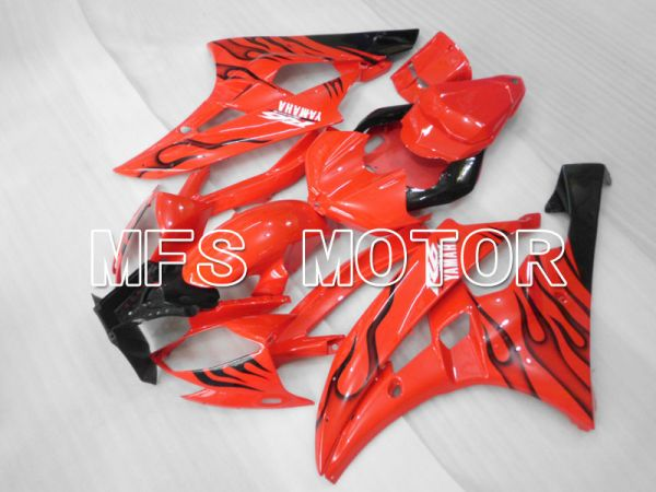 Yamaha YZF-R6 2006-2007 Injection ABS Fairing - Flame - Red Black - MFS3726