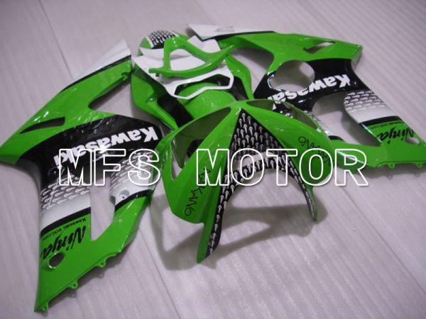 Kawasaki NINJA ZX6R 2003-2004 Injection ABS Fairing - Factory Style - Black Green - MFS3705