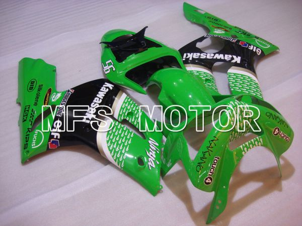 Kawasaki NINJA ZX6R 2003-2004 Injection ABS Fairing - Factory Style - Black Green - MFS3739