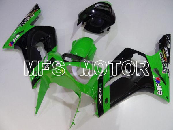 Kawasaki NINJA ZX6R 2003-2004 Injection ABS Fairing - Factory Style - Black Green - MFS3742