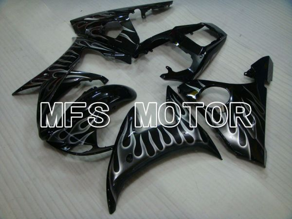 Yamaha YZF-R6 2005 Injection ABS Fairing - Flame - Black Gray - MFS3744