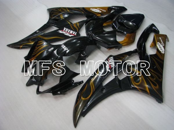 Yamaha YZF-R6 2006-2007 Injection ABS Fairing - Flame - Gold Black - MFS3752