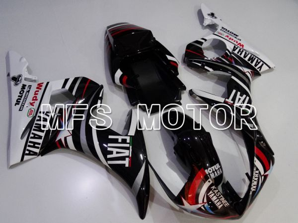 Yamaha YZF-R6 2005 Injection ABS Fairing - FIAT -  Black White - MFS3754
