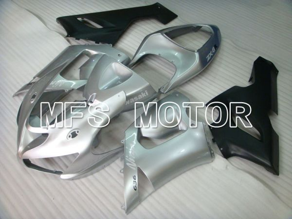 Kawasaki NINJA ZX6R 2005-2006 Injection ABS Fairing - Factory Style - Silver - MFS3755