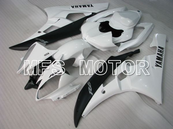 Yamaha YZF-R6 2006-2007 Injection ABS Fairing - Factory Style - White Black Matte - MFS3756