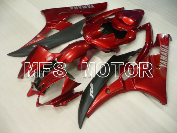 Yamaha YZF-R6 2006-2007 Injection ABS Fairing - Factory Style - Red wine color Black Matte - MFS3759