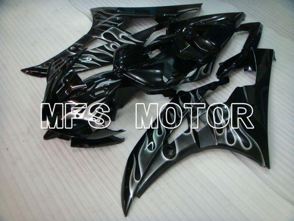 Yamaha YZF-R6 2006-2007 Injection ABS Fairing - Flame - White Black - MFS3767