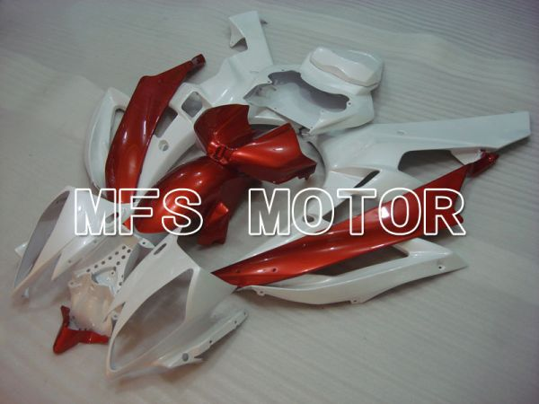 Yamaha YZF-R6 2006-2007 Injection ABS Fairing - Factory Style - Red wine color White - MFS3771
