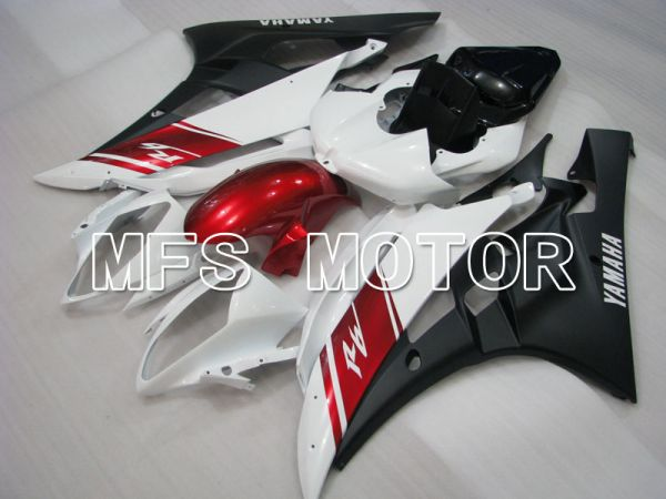 Yamaha YZF-R6 2006-2007 Injection ABS Fairing - Factory Style - White Black Matte - MFS3779