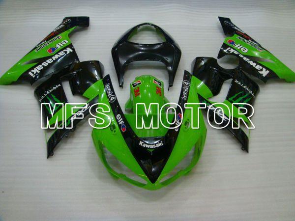 Kawasaki NINJA ZX6R 2005-2006 Injection ABS Fairing - Monster - Black Green - MFS3780
