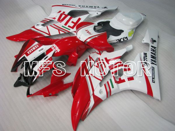 Yamaha YZF-R6 2006-2007 Injection ABS Fairing - FIAT - Red White - MFS3781