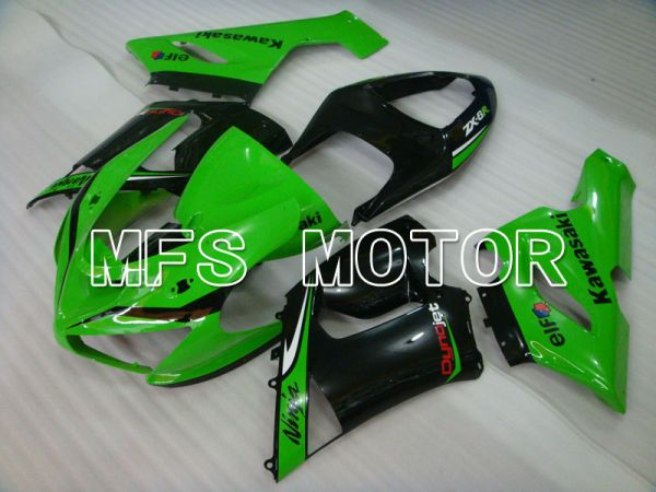 Kawasaki NINJA ZX6R 2005-2006 Injection ABS Fairing - Factory Style - Black Green - MFS3785