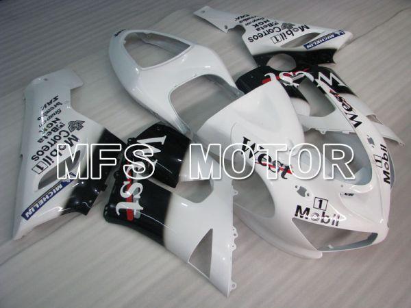 Kawasaki NINJA ZX6R 2005-2006 Injection ABS Fairing - West - Black White - MFS3787