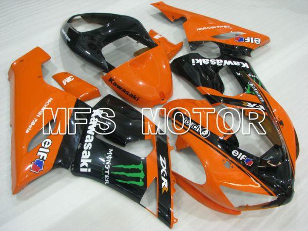 Kawasaki NINJA ZX6R 2005-2006 Injection ABS Fairing - Monster - Black Orange - MFS3792