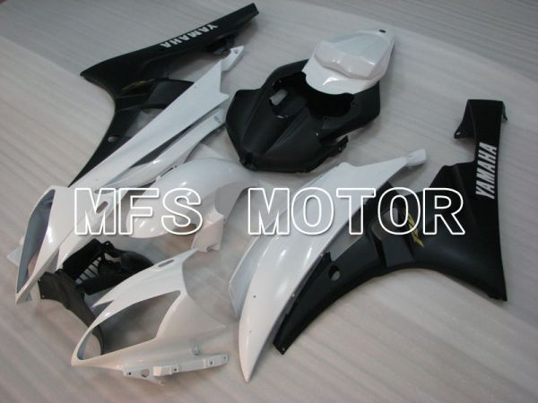 Yamaha YZF-R6 2006-2007 Injection ABS Fairing - Factory Style - White Black Matte - MFS3803