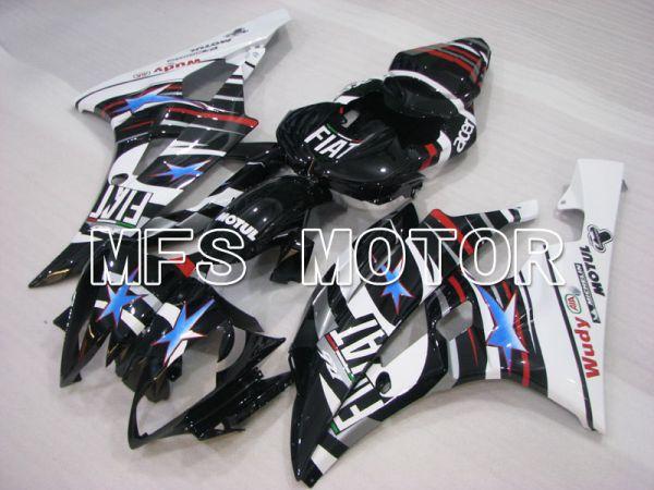Yamaha YZF-R6 2006-2007 Injection ABS Fairing - FIAT - Black White - MFS3816