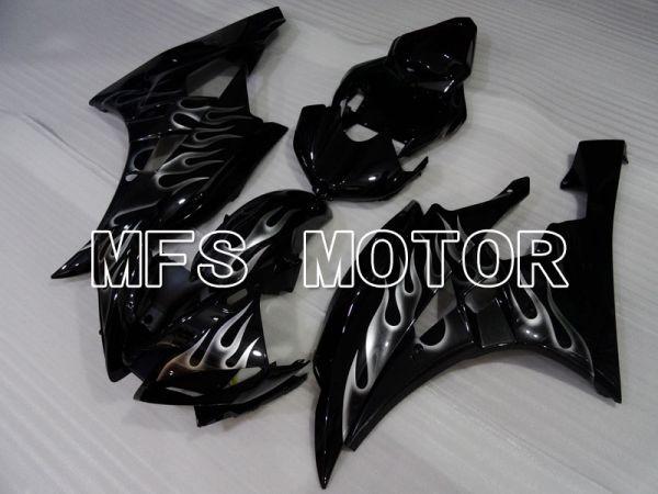 Yamaha YZF-R6 2006-2007 Injection ABS Fairing - Flame - White Black - MFS3820