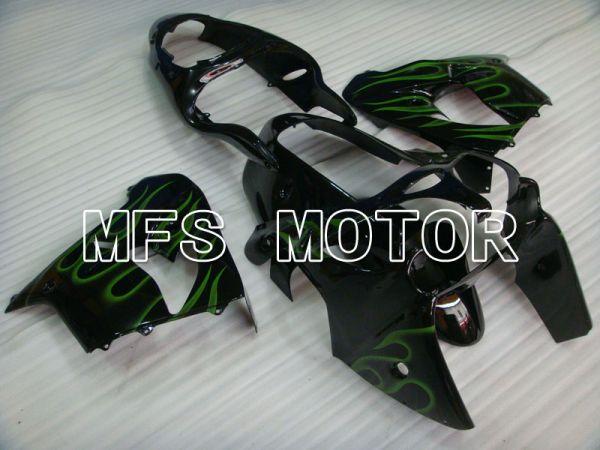 Kawasaki NINJA ZX9R 2000-2001 ABS Fairing - Flame - Black Green - MFS3827