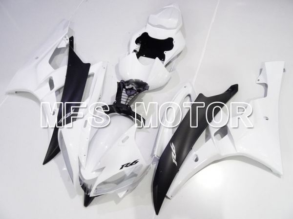 Yamaha YZF-R6 2006-2007 Injection ABS Fairing - Factory Style - White Black Matte - MFS3832