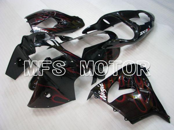 Kawasaki NINJA ZX9R 2000-2001 ABS Fairing - Flame - Black Red - MFS3834