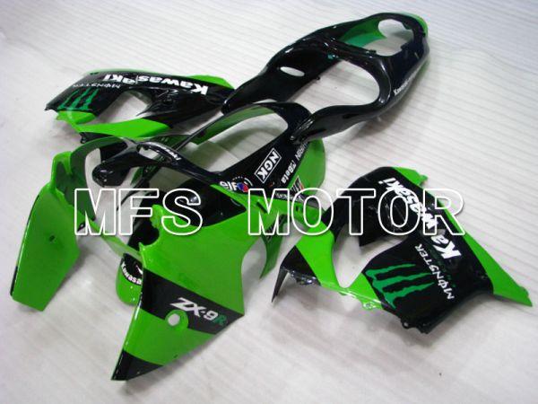Kawasaki NINJA ZX9R 2000-2001 ABS Fairing - Monster - Black Green - MFS3835