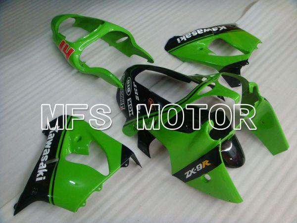 Kawasaki NINJA ZX9R 2000-2001 ABS Fairing - Factory Style - Black Green - MFS3838