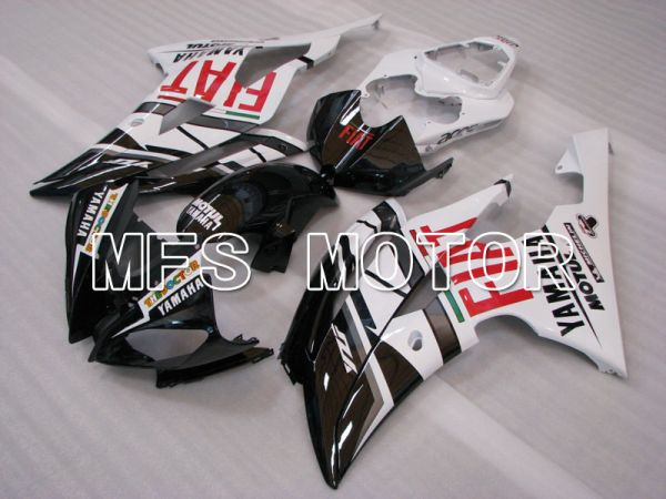 Yamaha YZF-R6 2008-2016 Injection ABS Fairing - FIAT - White Black - MFS3901