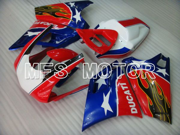 Ducati 748 / 998 / 996 1994-2002 Injection ABS Fairing - Others - Blue Red - MFS3905
