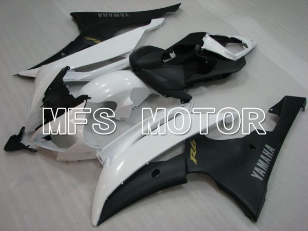 Yamaha YZF-R6 2008-2016 Injection ABS Fairing - Factory Style - Matte Black White - MFS3906