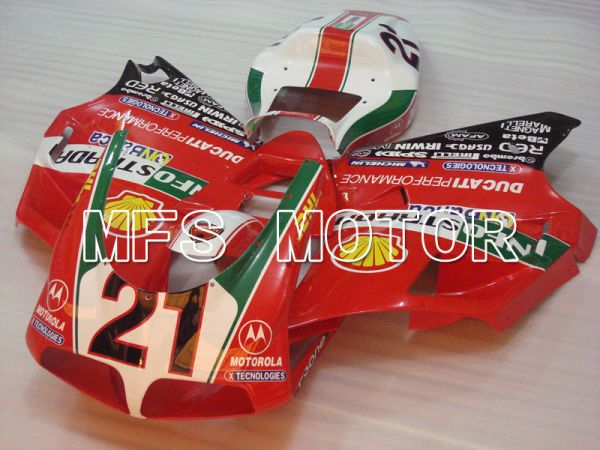 Ducati 748 / 998 / 996 1994-2002 Injection ABS Fairing - INFO STRADA - Red - MFS3915