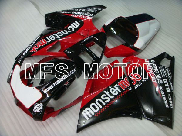 Ducati 748 / 998 / 996 1994-2002 Injection ABS Fairing - Monstermob - Black Red wine color - MFS3920