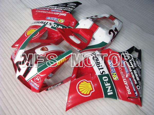 Ducati 748 / 998 / 996 1994-2002 Injection ABS Fairing - INFO STRADA - Red - MFS3962