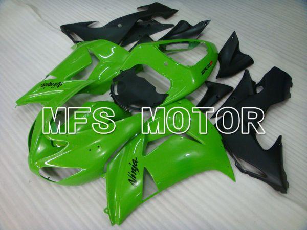 Kawasaki NINJA ZX10R 2006-2007 Injection ABS Fairing - Factory Style - Black Green - MFS3995