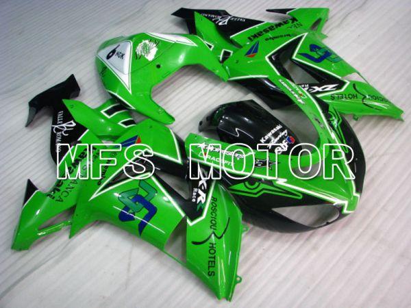Kawasaki NINJA ZX10R 2006-2007 Injection ABS Fairing - Others - Black Green - MFS3996
