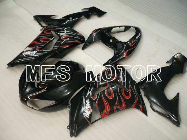 Kawasaki NINJA ZX10R 2006-2007 Injection ABS Fairing - Flame - Black - MFS3999