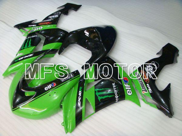 Kawasaki NINJA ZX10R 2006-2007 Injection ABS Fairing - Monster - Black Green - MFS4008