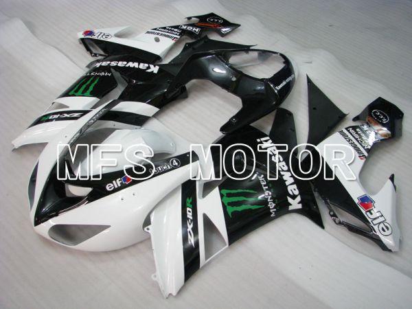 Kawasaki NINJA ZX10R 2006-2007 Injection ABS Fairing - Monster - Black White - MFS4009
