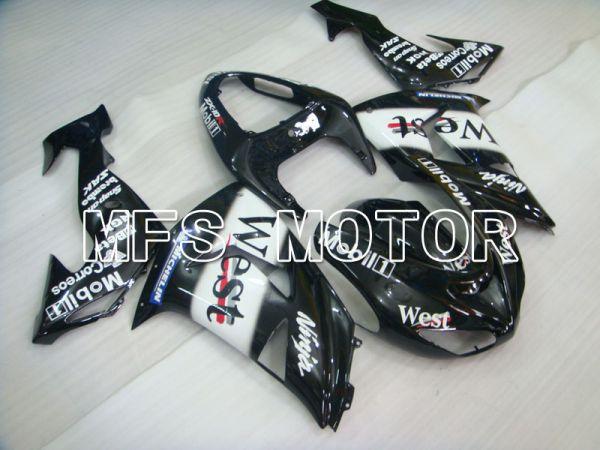 Kawasaki NINJA ZX10R 2006-2007 Injection ABS Fairing - West - Black White - MFS4012