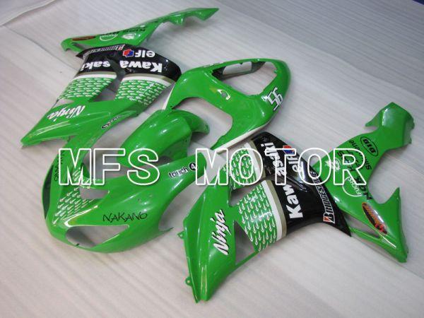 Kawasaki NINJA ZX10R 2006-2007 Injection ABS Fairing - Factory Style - Black Green - MFS4022